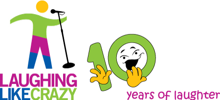 Crazy comedian telling jokes to celebrate 10 years of the Laughing Like Crazy Program